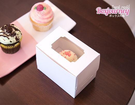 กล่องเค้ก 1 ชิ้น สีขาว