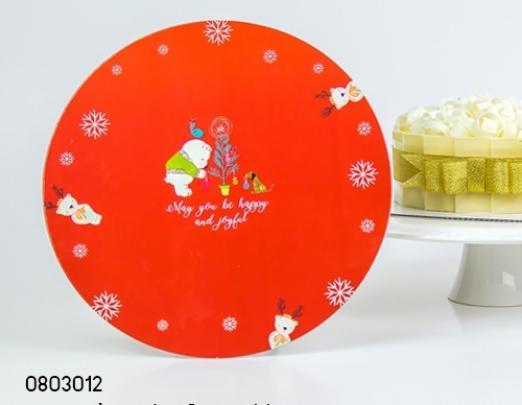 ฐานรองเค้ก 3 ปอนด์ ลายหมีสีแดง