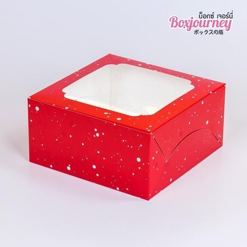 กล่องเค้ก 1 ปอนด์ ลายสโนว์เฟล็กซ์