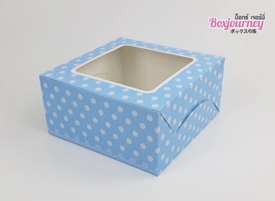 กล่องเค้ก 1 ปอนด์ ฟ้าจุด