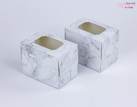 กล่องเค้ก 1 ชิ้น มาเบิล ไวท์วีนัส