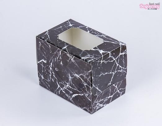 กล่องเค้ก 1 ชิ้น แบล็ค มาเบิล