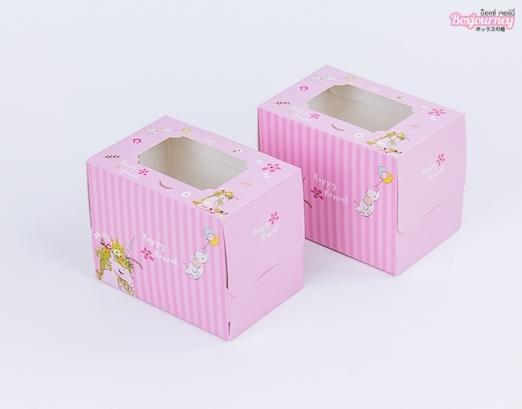 กล่องเค้ก 1 ชิ้น พิ้งค์ยูนิคอร์น
