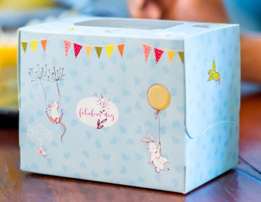 กล่องเค้ก 1 ชิ้น เทดดี้&เฟรนด์