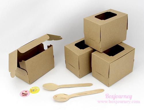 กล่องเค้ก 1 ชิ้น น้ำตาล(คราฟ)