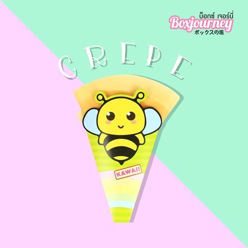 ซองเครปพิมพ์ลาย หน้าผึ้ง
