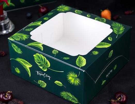 กล่องเค้ก 1 ปอนด์ ลายทรอปิคัล