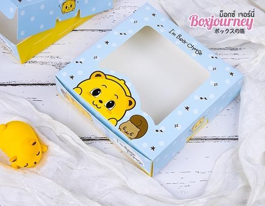 กล่องบราวนี่ ลาย Bear cheese 004