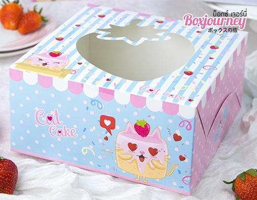 กล่องเค้ก 1 ปอนด์ แคทเค้ก 001