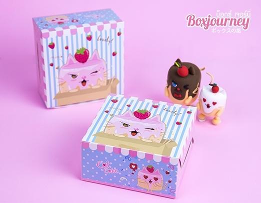 กล่องสแน็คไม่มีหน้าต่าง ลายCatcake 001