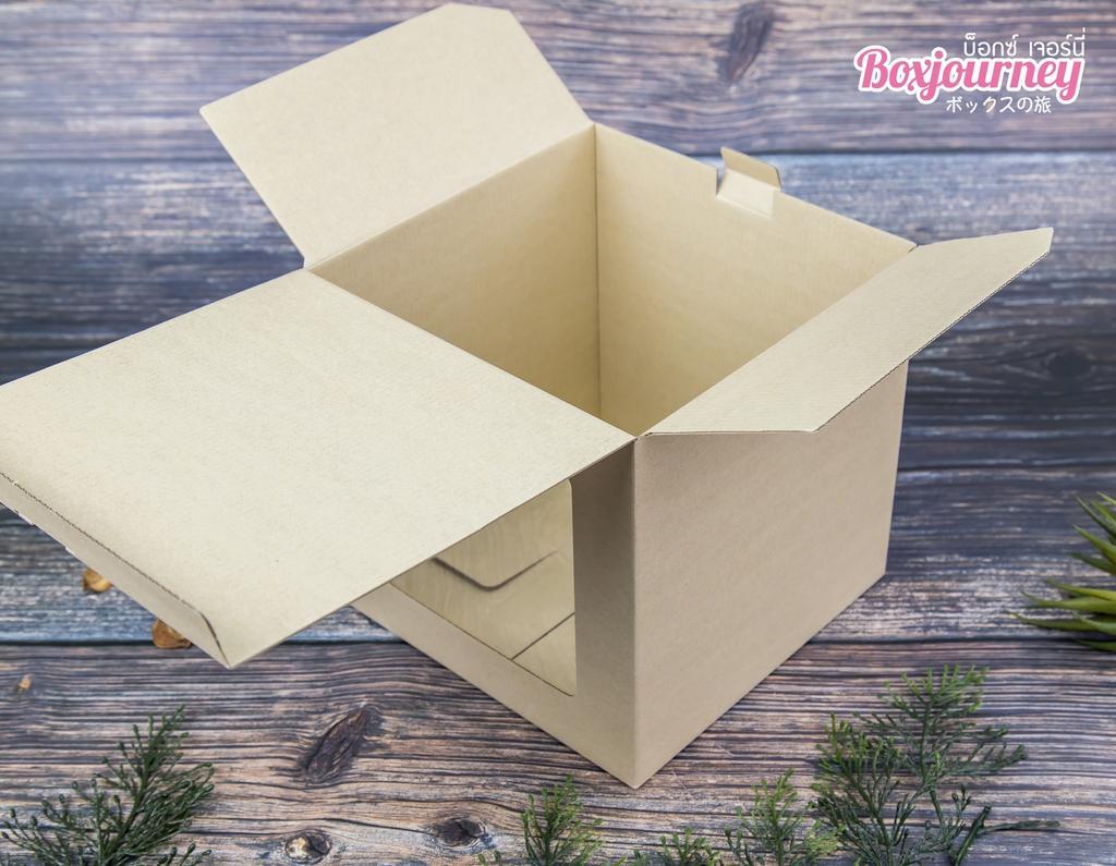 กล่องลูกฟูกพรีเมี่ยมมีหน้าต่าง 20x20x20 cm.