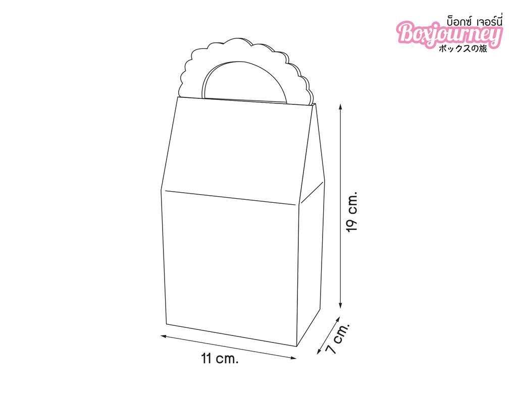 กล่องคุ๊กกี้ 180 กรัม หน้าต่างเหลี่ยม คราฟหลังขาว