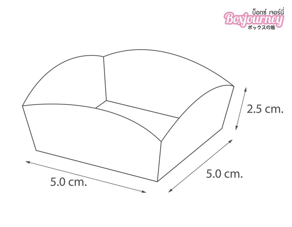 ถาดกระดาษชงชิม ขนาด 5*5*2.5 ซม.คราฟ
