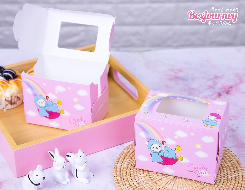 กล่องเค้ก 1 ชิ้น ลายแคนดี้แบร์ 003
