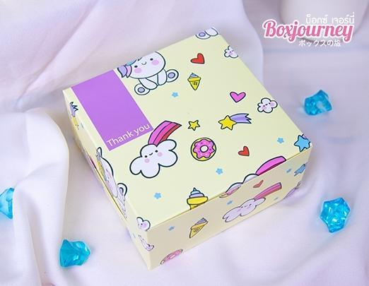 กล่องสแน็ค ลาย baby unicorn yellow