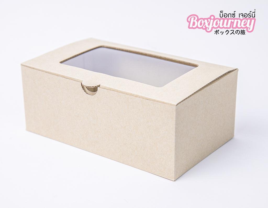 กล่องลูกฟูกพรีเมี่ยม มีหน้าต่าง 11x18x7 ซม.