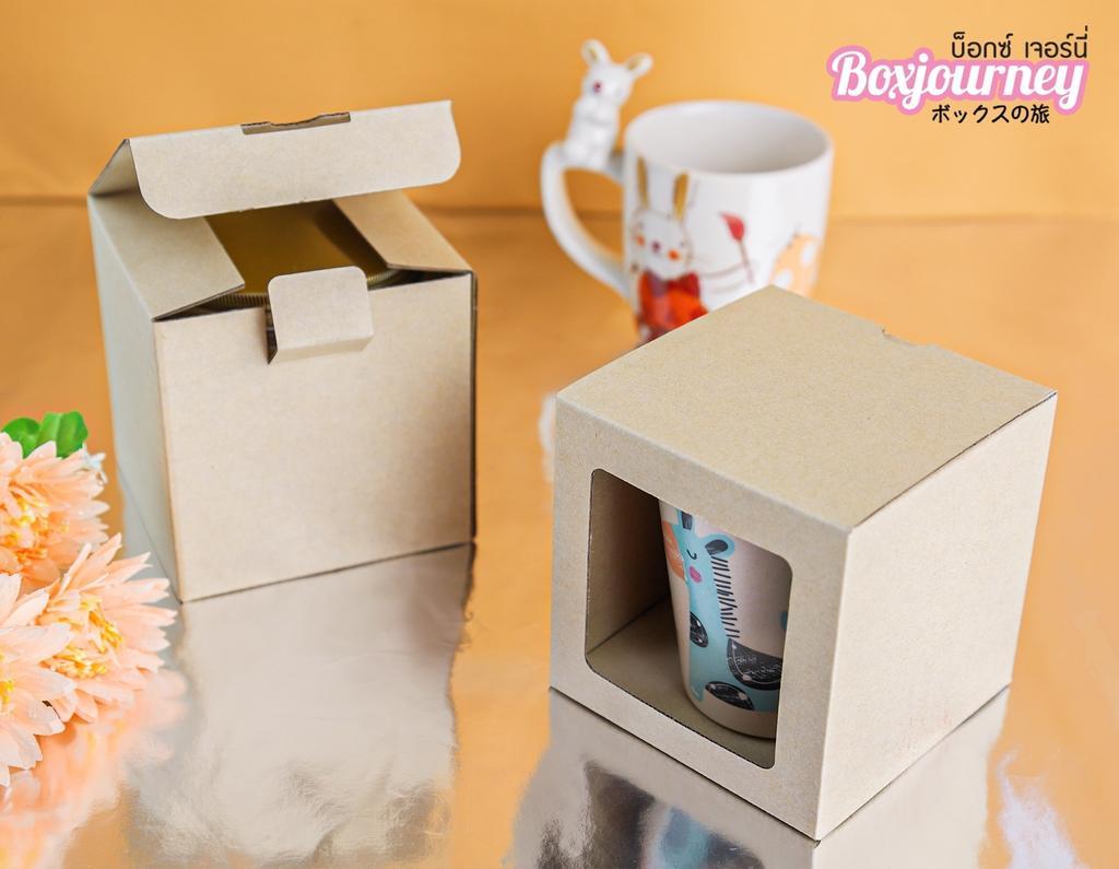 กล่องลูกฟูกพรีเมี่ยม มีหน้าต่าง 10x10x10 ซม.