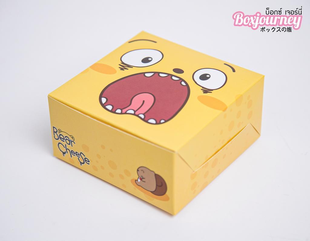 กล่องสแน็ค ลาย แบร์ชีส ว้าว 12.7x12.7x6.5 ซม.